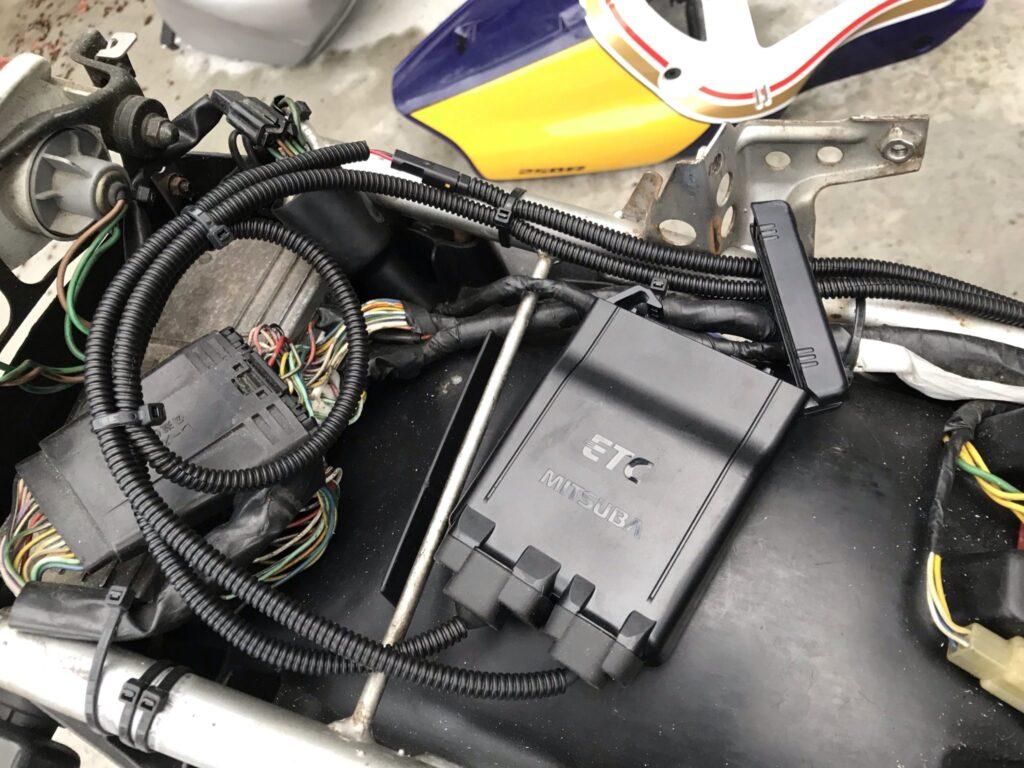 バイク Nsrにetcを取り付けてみた Etc 西冨ブログ